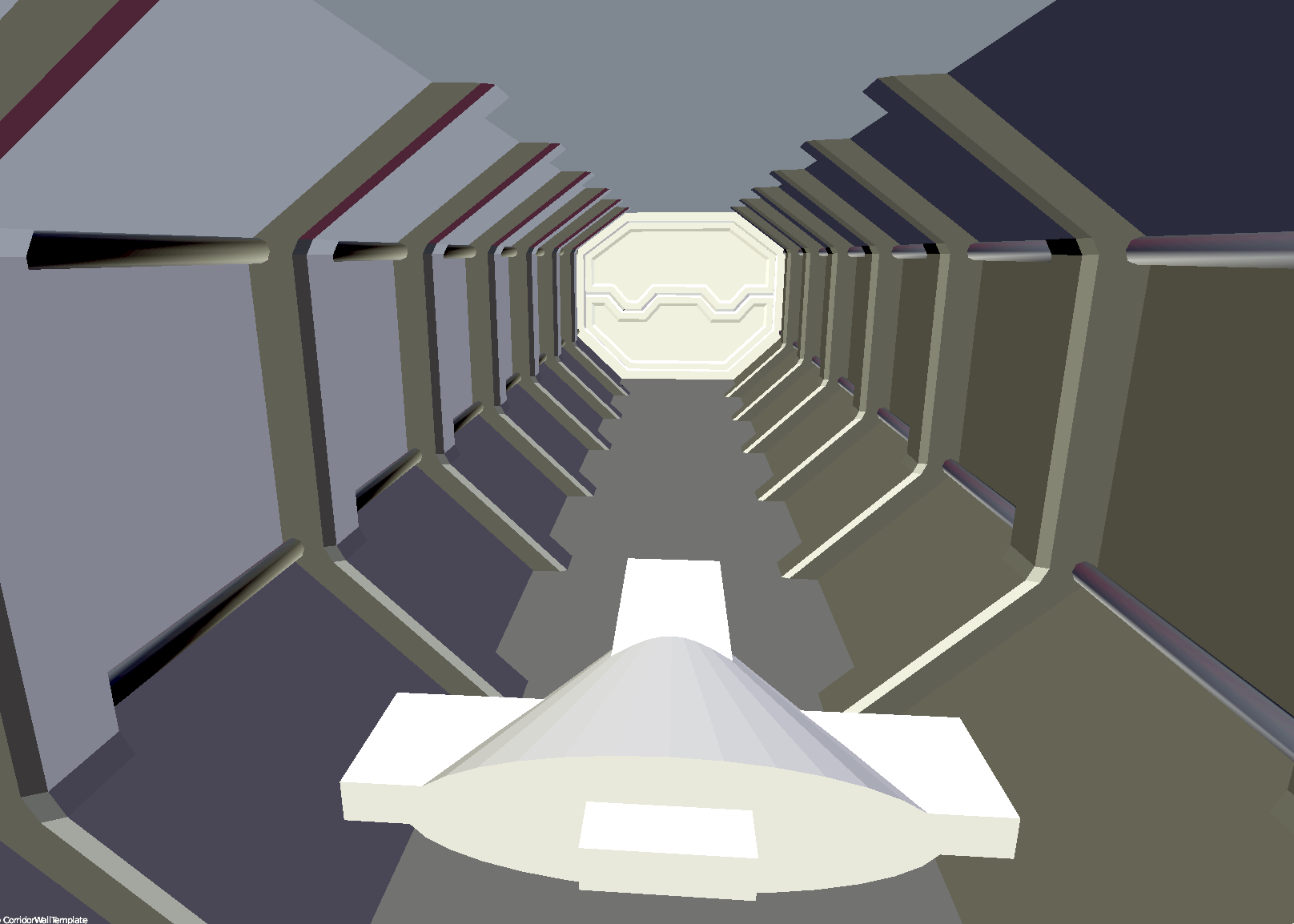 Space corridor and door3